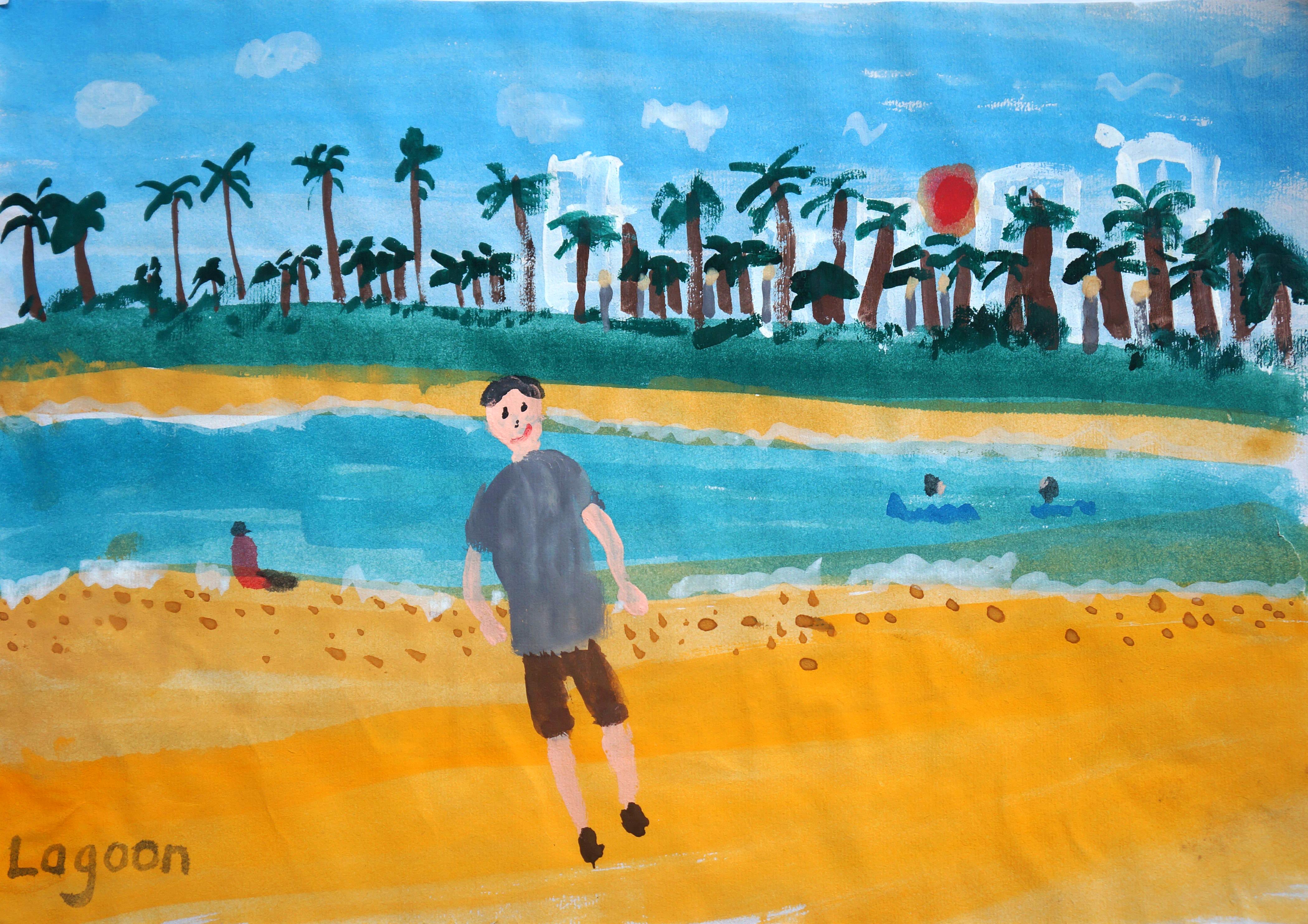 Chen Yitong--Hawaii, The Lagooon - Autism Artism 2017