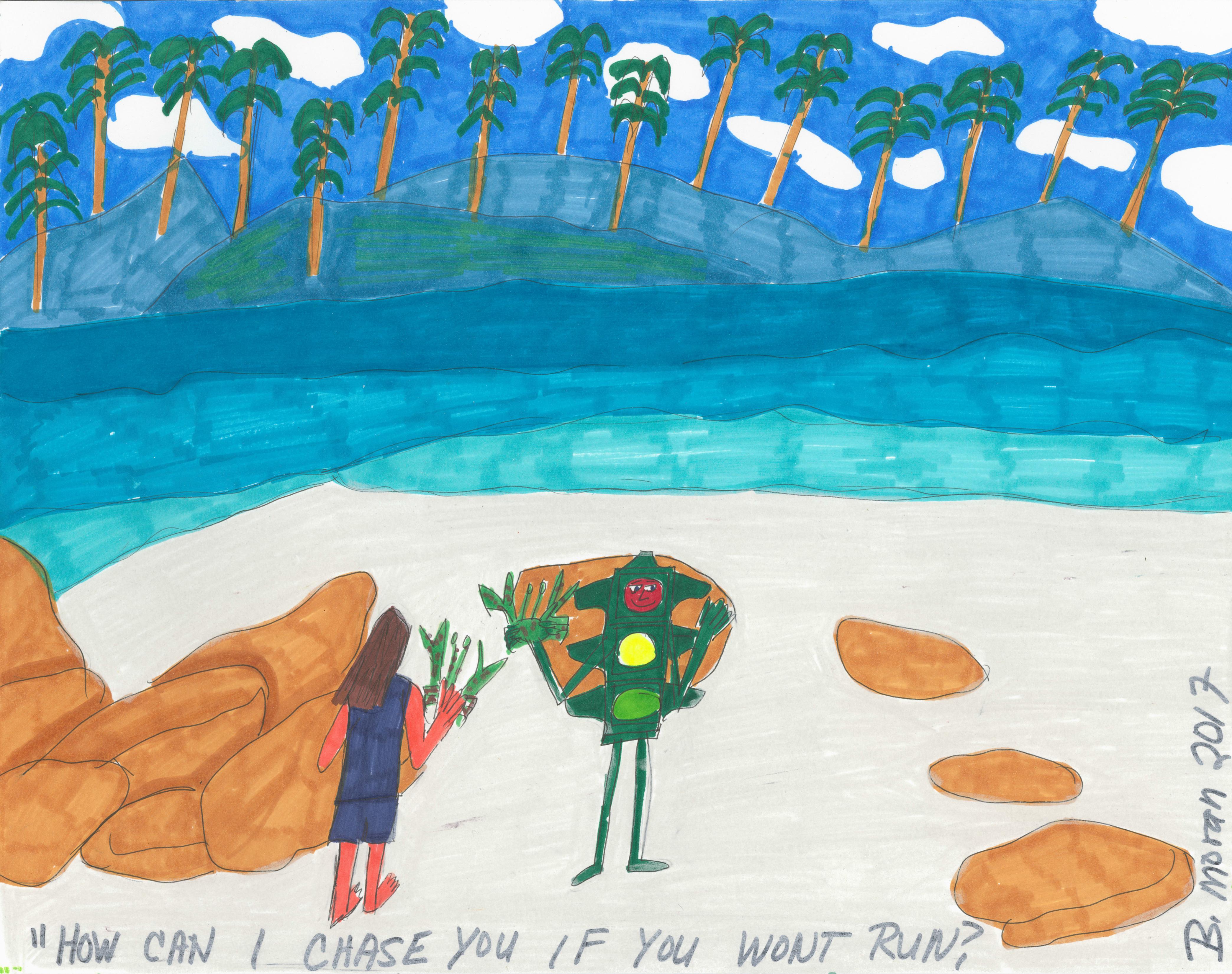 Moran, Barbara--Fun At The Beach - Autism Artism 2017