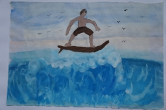 Chen Yitong--Hawaii, The Surfer - Autism Artism 2017