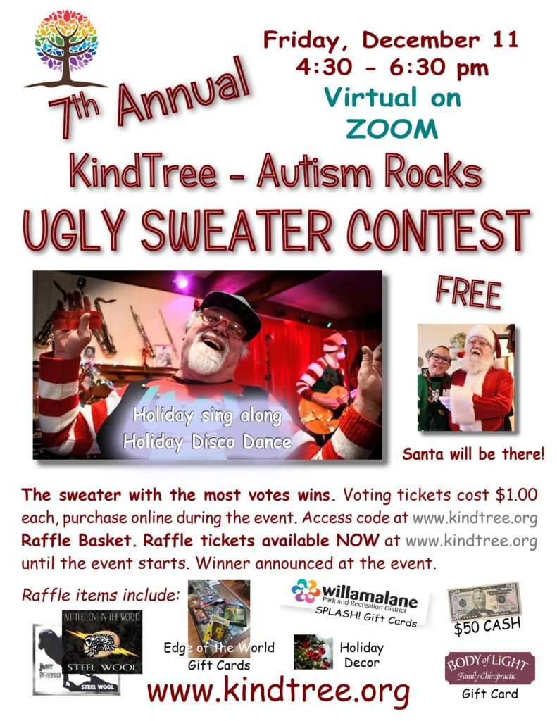 7th Annual Holiday Ugly Sweater Contest and Party! @ Via ZOOM | Eugene | Oregon | United States